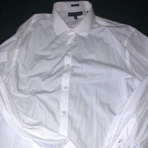 17-17.5 neck 34-35 arm white tommy dress shirt
